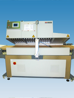 Bench-scale belt dryer with a circular conveyor belt; used for development and small series production of rapid test diagnostics