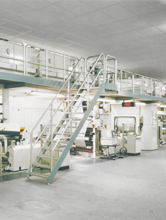 Drying tunnel: Drying tunnel installation on a coating / laminating machine